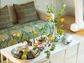 ダイニングテーブルの花