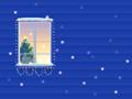 窓越しのクリスマスツリー