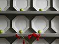 飾り皿と青リンゴ