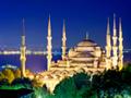 夜のブルーモスク(トルコ)