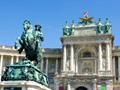 新王宮とオイゲン公騎馬像(オーストリア)