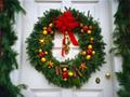 ドアのクリスマスリース