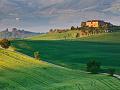 ヴィラへ続く道(イタリア)